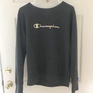 Gray pullover champion sweatshirt